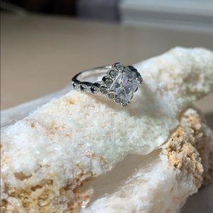 Charmed Aroma Cubic Zirconia and Sapphire Ring